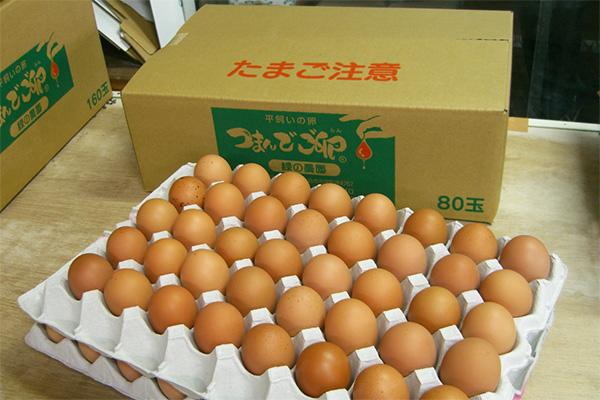 つまんでご卵80個段ボール箱