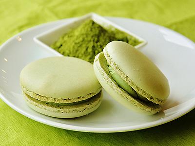 緑茶のマカロン