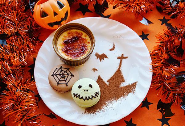 糸島産かぼちゃのブリュレとマカロンのセット