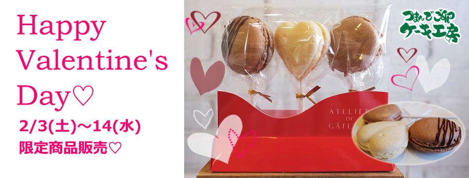 つまんでご卵ケーキ工房 バレンタイン限定マカロン新登場